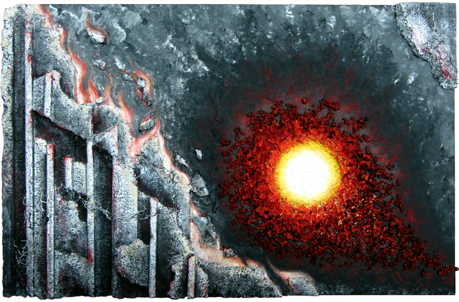 """Destruction"" Acryl-Skulptur auf Leinwand  Format: 92 x 60 cm, 2015"